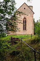 Gotische Gotthardsruine bei Amorbach im Odenwald, Bayern, Deutschland