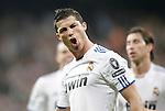 Real Madrid's Cristiano Ronaldo celebrates during Champions League Match. April 05, 2011. (ALTERPHOTOS/Alvaro Hernandez)