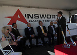 Ainsworth Gaming Technologies broke ground on their new building in LAS VEGAS The groundbreaking for Ainsworth Game Technology's new American headquarters took place Friday in Las Vegas. The groundbreaking brought out many politicians including, Congressman Joe Heck (R-NV), representatives from both Nevada senators and Governor Sandoval.