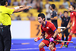 Koji Yamasaki (JPN), <br /> SEPTEMBER 1, 2018 - Hockey : <br /> Men's Final match between <br /> Japan 6-6(3-1) Malaysia <br /> at Gelora Bung Karno Hockey Field <br /> during the 2018 Jakarta Palembang Asian Games <br /> in Jakarta, Indonesia. <br /> (Photo by Naoki Nishimura/AFLO SPORT)