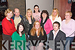 TV APPEARANCE: Diane Breen, Killarney, gathers with her friends in The Granary Bar, Killarney, to watch her appearance on the RTE programme You Are What You Eat last Wednesday night. Front row l-r: Carla ONeill, Diane Breen and Nick Power. Back row l-r: Patricia ONeill, Sven Nolke, Zoe Cohen, Denise Kelliher, Breda Sugrue, Shirley OShea and Ann OShea..