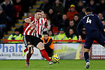 Enda Stevens of Sheffield United crosses the ball during the Premier League match at Bramall Lane, Sheffield. Picture date: 10th January 2020. Picture credit should read: James Wilson/Sportimage