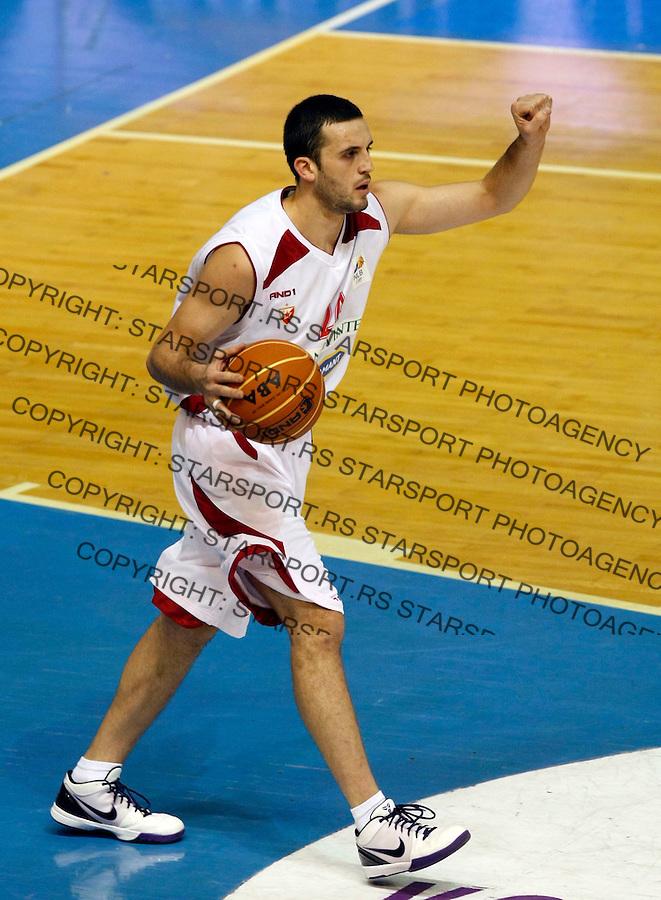 Kosarka, NLB League, sezona 2009/2010.Crvena Zvezda Vs. Hemofarm (Vrsac).Filip Videnov.Belgrade, 05.12.2009..foto: Srdjan Stevanovic/Starsportphoto ©