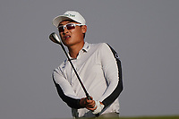 Haotong Li (CHN) on the range during the Preview of the Saudi International at the Royal Greens Golf and Country Club, King Abdullah Economic City, Saudi Arabia. 28/01/2020<br /> Picture: Golffile | Thos Caffrey<br /> <br /> <br /> All photo usage must carry mandatory copyright credit (© Golffile | Thos Caffrey)