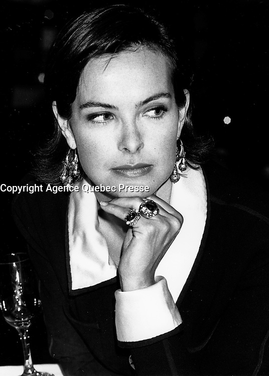 Montreal (Qc) Canada  file Photo - Sept  1994 - ,Carole Bouquet