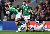 Richard Wigglesworth of England attempts to tackle Conor Murray of Ireland. Natwest 6 Nations match between England and Ireland on March 17, 2018 at Twickenham Stadium in London, England. Photo by: Patrick Khachfe / Onside Images