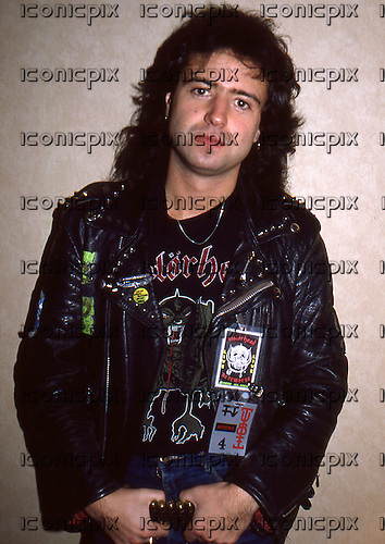 MOTORHEAD - Phil Campbell - photographed in Reading UK - 06 Nov 1984.  Photo credit: Georges Amann/Dalle/IconicPix