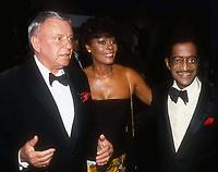 Frank Sinatra Dionne Warwick Sammy Davis Jr. 1983<br /> Photo By John Barrett/PHOTOlink.net / MediaPunch