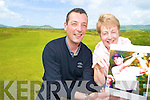 Brian and Noreen Higgins, brother and mother of David Hayes celebrate after he qualified for the British Open.....