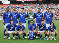 Everton starting eleven.  Everton defeated DC United 3-1 in a international friendly ,at RFK Stadium, Saturday July 23, 2011.