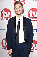 David Ames<br /> arriving for the TV Choice Awards 2017 at The Dorchester Hotel, London. <br /> <br /> <br /> &copy;Ash Knotek  D3303  04/09/2017