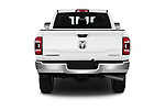 Straight rear view of a 2019 Ram 2500 Laramie 4 Door Pick Up stock images