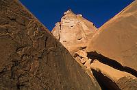 Red rocks and vivid blue sky-Park Avenue-Arches National Park, Utah
