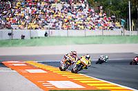 VALENCIA, SPAIN - NOVEMBER 8: Luis Salom, Sam Lowes during Valencia MotoGP 2015 at Ricardo Tormo Circuit on November 8, 2015 in Valencia, Spain
