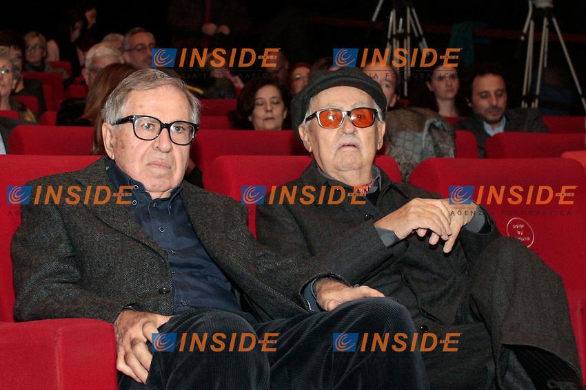 I fratelli Paolo e Vittorio Taviani.Roma 04/12/2012 Casa del Cinema. Convegno  'Oltre le sbarre: la pena tra sanzione e recupero'.Photo Samantha Zucchi Insidefoto