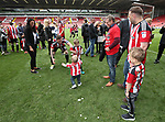 Sheffield United's Billy Sharp and his family during the League One match at Bramall Lane, Sheffield. Picture date: April 30th, 2017. Pic David Klein/Sportimage