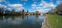 BNPS.co.uk (01202 558833)<br /> Pic: PhilYeomans/BNPS<br /> <br /> Brunel's Great Western railway bridge at Maidenhead today.<br /> <br /> 'Old man river, he just keeps rollin' - A remarkable collection of panoramic photographs of the Thames taken 160 years ago have emerged for auction, and they reveal how little the famous old river has changed in the last century and a half.<br /> <br /> They follow the river from London to Oxford in 40 photographs providing a fascinating insight into how the famous river looked in the mid-19th century.<br /> <br /> Londoner Victor Prout started photographing the Thames in 1857 using a camera which would produce wide-vision images because of a lens that swung round and 'scanned' sections of the picture.<br /> <br /> This rare complete copy of the first edition of Prout's pioneering panoramics has emerged for auction and is tipped to sell for &pound;12,000 when they go under the hammer at Bonhams on March 1.