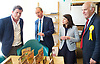 Tim Farron joins Vince Cable, Liberal Democrat Shadow Chancellor and candidate for Twickenham, on a visit to the HQ of Graze, one of the 100 fastest growing companies in the UK, <br /> <br /> The met Graze CEO Anthony Fletcher<br /> <br /> Tim Farron <br /> Sarah Olney MP <br /> Vince Cable <br /> <br /> <br /> <br /> Photograph by Elliott Franks <br /> Image licensed to Elliott Franks Photography Services