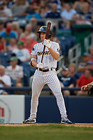 Trenton Thunder Kyle Holder (6) bats during an Eastern League game against the New Hampshire Fisher Cats on August 20, 2019 at Arm & Hammer Park in Trenton, New Jersey.  New Hampshire defeated Trenton 7-2.  (Mike Janes/Four Seam Images)