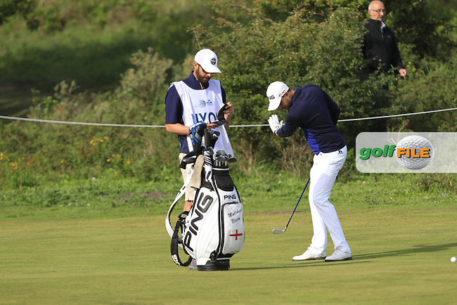 Matthew Nixon (ENG) on the 2nd fairway during Round 4 of the 2015 KLM Open at the Kennemer Golf &amp; Country Club in The Netherlands on 13/09/15.<br /> Picture: Thos Caffrey | Golffile