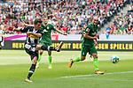 15.07.2017, Borussia Park, Moenchengladbach, GER, TELEKOM CUP 2017 - Borussia Moenchengladnach vs SV Werder Bremen<br /> <br /> im Bild<br /> Jonas Hofmann (Moenchengladbach #23) mit Torschuss, <br /> <br /> Foto &copy; nordphoto / Ewert