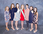 March 12, 2017- Tuscola, IL- The 2017 Junior Miss Tuscola candidates. From left are Emma Zimmer, Kenzie Heckler, Maicyn Woodard, 2016 Queen Julia Kerkhoff, Carlie Seip, Raeanna Boyer, and Lauren Woods. [Photo: Rachel Ray]