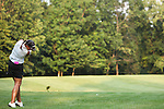 Stephanie Otteson droves the ball on the 14th hole at Alliance Bank Golf Classic in Syracuse NY.