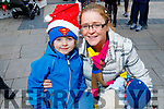 Evan and Amy Lucid from Tralee enjoying the festive fun at the Snow Day in the square in Tralee on Saturday.