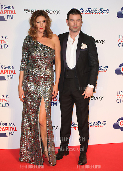 Lisa Snowdon and Dave Berry arriving for the Capital Radio Jingle Bell Ball, O2 Arena, London. 08/12/2012 Picture by: Alexandra Glen / Featureflash