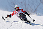 Akira Kano (JPN), <br /> MARCH 11, 2018 - Alpine Skiing : <br /> Men's Super G Sitting <br /> at Jeongseon Alpine Centre  <br /> during the PyeongChang 2018 Paralympics Winter Games in Pyeongchang, South Korea. <br /> (Photo by Yusuke Nakanishi/AFLO)