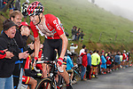 Sander Armee (BEL) Lotto-Soudal on the brutal climb of Los Machucos during Stage 17 of the 2017 La Vuelta, running 180.5km from Villadiego to Los Machucos. Monumento Vaca Pasiega, Spain. 6th September 2017.<br /> Picture: Unipublic/&copy;photogomezsport | Cyclefile<br /> <br /> <br /> All photos usage must carry mandatory copyright credit (&copy; Cyclefile | Unipublic/&copy;photogomezsport)