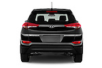 Straight rear view of 2016 Hyundai Tucson SE 5 Door Suv Rear View  stock images