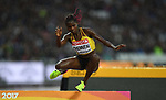 Peruth CHEMUTAI (UGA) in the womens 3000m steeplechase heats. IAAF world athletics championships. London Olympic stadium. Queen Elizabeth Olympic park. Stratford. London. UK. 09/08/2017. ~ MANDATORY CREDIT Garry Bowden/SIPPA - NO UNAUTHORISED USE - +44 7837 394578