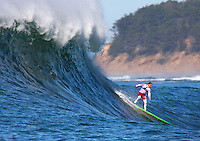 Half Moon Bay - Ca, Sunday, January 20, 2013: Anthony Tasknick competes during the 2013 Mavericks Invitational..