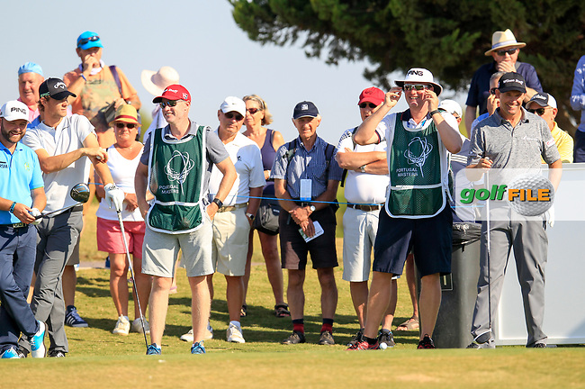 Padraig Harrington (IRL) on the 15th tee during the 1st round of the 2017 Portugal Masters, Dom Pedro Victoria Golf Course, Vilamoura, Portugal. 21/09/2017<br /> Picture: Fran Caffrey / Golffile<br /> <br /> All photo usage must carry mandatory copyright credit (&copy; Golffile | Fran Caffrey)