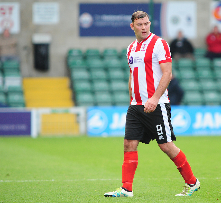 Lincoln City's Matt Rhead<br /> <br /> Photographer Andrew Vaughan/CameraSport<br /> <br /> Vanarama National League - Lincoln City v Eastleigh - Saturday 22nd October 2016 - Sincil Bank - Lincoln<br /> <br /> World Copyright &copy; 2016 CameraSport. All rights reserved. 43 Linden Ave. Countesthorpe. Leicester. England. LE8 5PG - Tel: +44 (0) 116 277 4147 - admin@camerasport.com - www.camerasport.com