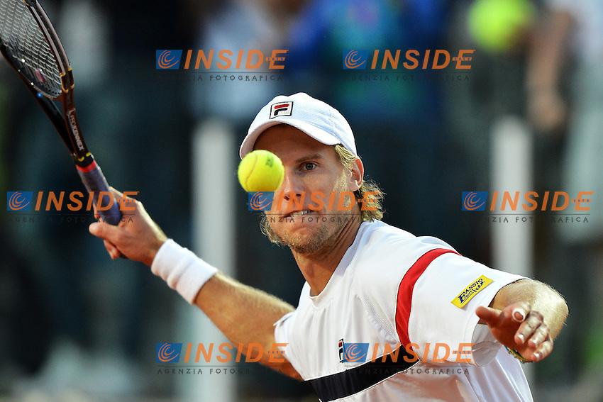 Esultanza di Andrea Seppi al termine dell'incontro.Roma 16/05/2012 Foro Italico.Tennis Internazionali d'Italia.Foto Insidefoto Andrea Staccioli