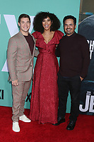 "LOS ANGELES - OCT 3:  Adam DeVine, Alexandra Shipp, Michael Pena at the ""Jexi"" Premiere at the Bruin Theater on October 3, 2019 in Westwood, CA"