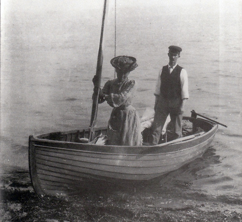 Molly and Erskine Childers in Asgard's specially-designed 10ft tender.