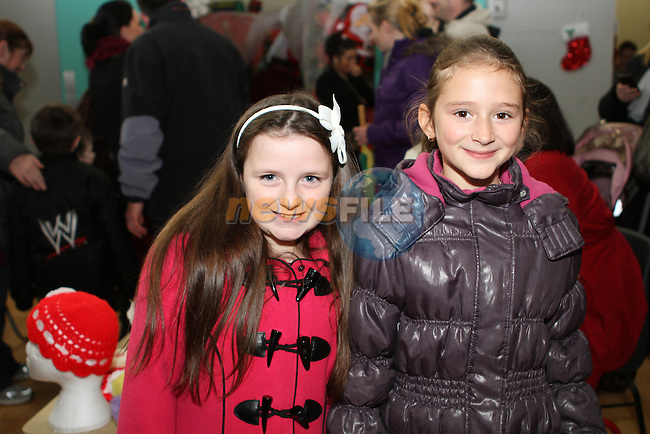 Chloe Doherty and Gloria Svistal at the Christmas Fair in Aston Village Educate Together NS...Photo NEWSFILE/Jenny Matthews..(Photo credit should read Jenny Matthews/NEWSFILE)