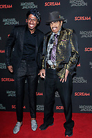 LOS ANGELES - OCT 24: Nick Cannon, Joe Jackson at The Estate of Michael Jackson and Sony Music present Michael Jackson Scream Halloween Takeover at TCL Chinese Theatre IMAX on October 24, 2017 in Los Angeles, California