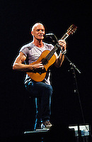 Sting in concert, in NYC's Roseland theater, 11-8-11. photography by Tom Zuback