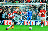 Derby County's forward Andi Weimann (19) brings the ball through midfield during the Sky Bet Championship match between Nottingham Forest and Derby County at the City Ground, Nottingham, England on 10 March 2018. Photo by Stephen Buckley / PRiME Media Images.