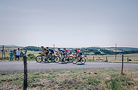 26 km's into the race the escape group trying to widen the gap with the peloton<br /> <br /> 104th Tour de France 2017<br /> Stage 16 - Le Puy-en-Velay &rsaquo; Romans-sur-Is&egrave;re (165km)