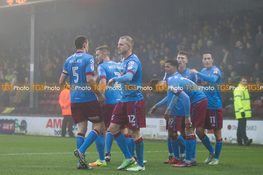 Scunthorpe's opening goal celebration during Scunthorpe United vs Oxford United, Sky Bet EFL League 1 Football at Glanford Park on 26th November 2016