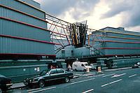 Terry Farrell: TV-AM, Camden Lock. Industrial building. Entrance. Photo '90.