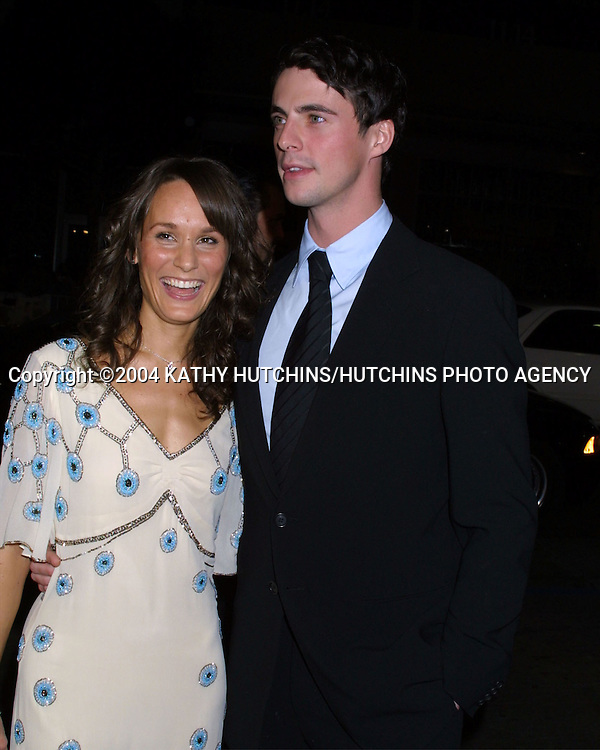 © 2004 KATHY HUTCHINS/HUTCHINS PHOTO.CHASING LIBERTY PREMIERE.GRAUMAN'S CHINESE THEATER.JANUARY 7, 2004..MATTHEW GOODE AND HIS DATE MARGO