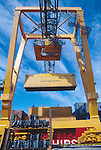 Finland, Containers, container crane, Helsinki harbor, Baltic Sea, Maritime  Trade,