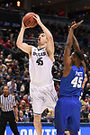 MILWAUKEE, WI - MARCH 18: Butler Bulldogs forward Andrew Chrabascz (45) goes up for a basket during the second half of the 2017 NCAA Men's Basketball Tournament held at BMO Harris Bradley Center on March 18, 2017 in Milwaukee, Wisconsin. (Photo by Jamie Schwaberow/NCAA Photos via Getty Images)