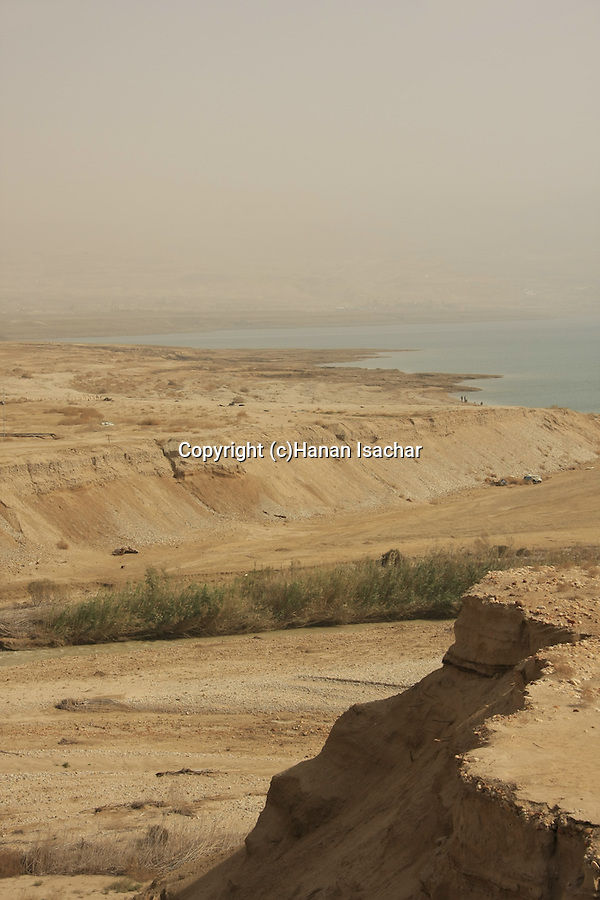 Dead Sea Valley, Jordan River estuary at the Dead Sea